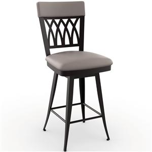 "Amisco Stools 26"" Oxford Swivel Stool"