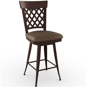 "Amisco Stools 26"" Wicker Counter Swivel Stool"