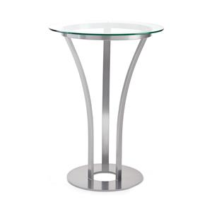 Dalia Counter Height Table with Round Glass Top