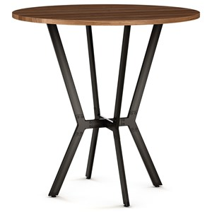 """Norcross Bar Table with 42"""" Distressed Solid Wood Top"""