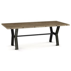 Parade Dining Table with Metal Trestle Base