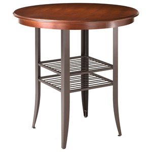 Andy Contemporary Counter Height Table with Two Shelves