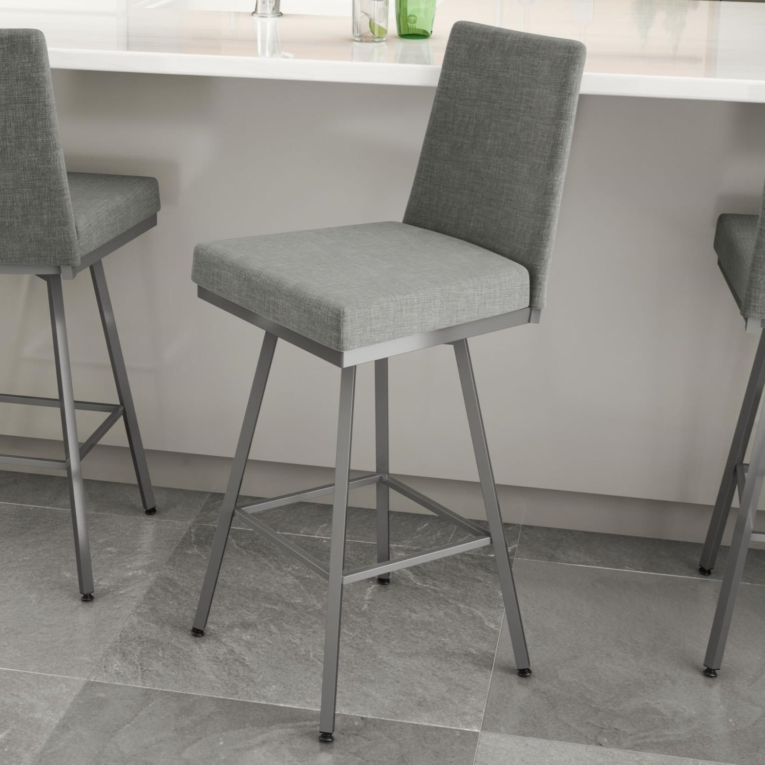 """Urban 26"""" Linea Swivel Stool by Amisco at Saugerties Furniture Mart"""