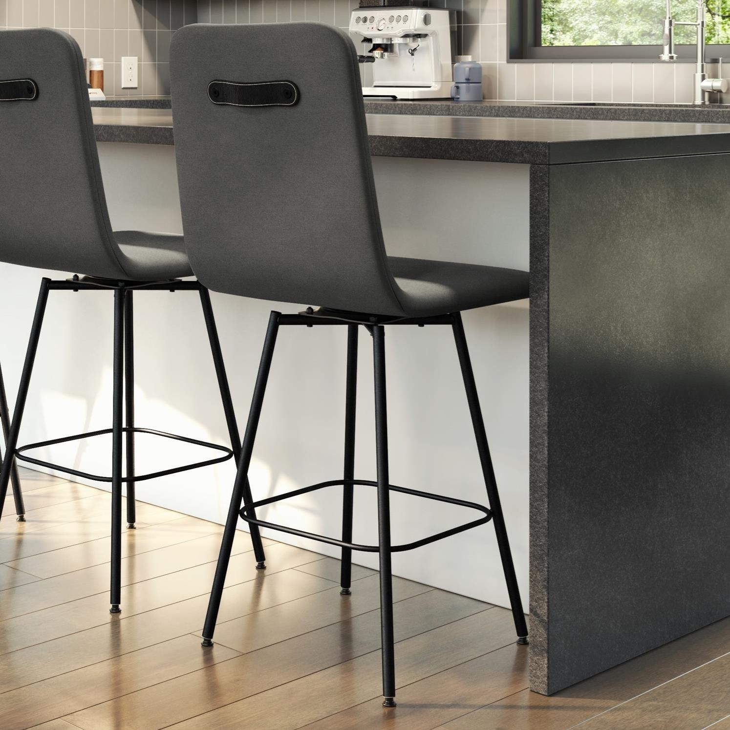 "Urban 26"" Bray Swivel Counter Stool by Amisco at Rooms and Rest"