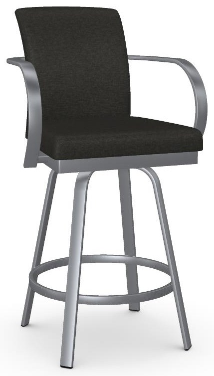 Urban Customizable Lance Swivel Counter Stool by Amisco at Crowley Furniture & Mattress
