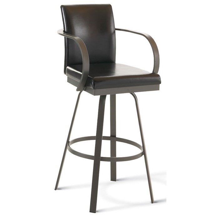 "Urban Customizable 30"" Lance Swivel Stool by Amisco at Jordan's Home Furnishings"