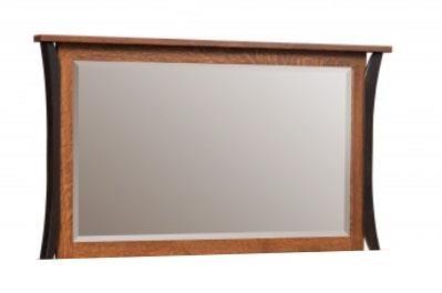 Allegheny Amish Dresser Mirror by Amish Furniture at Ruby Gordon Home