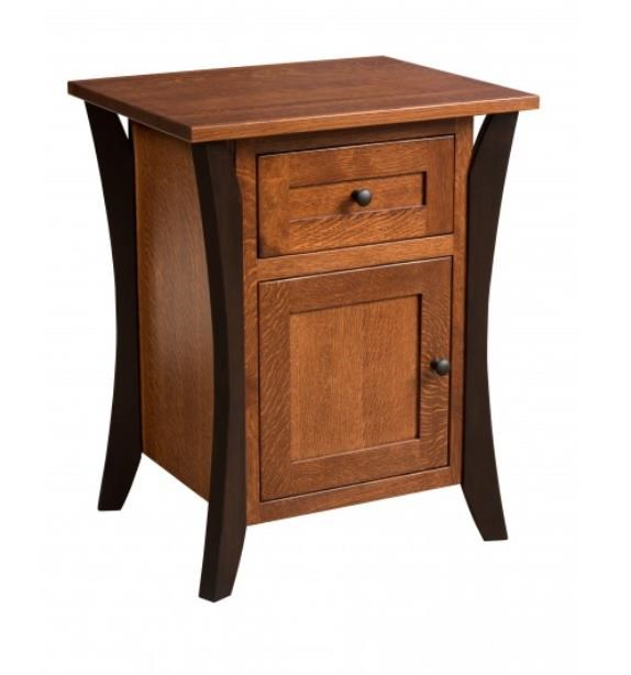 Allegheny Amish Nightstand by Amish Furniture at Ruby Gordon Home