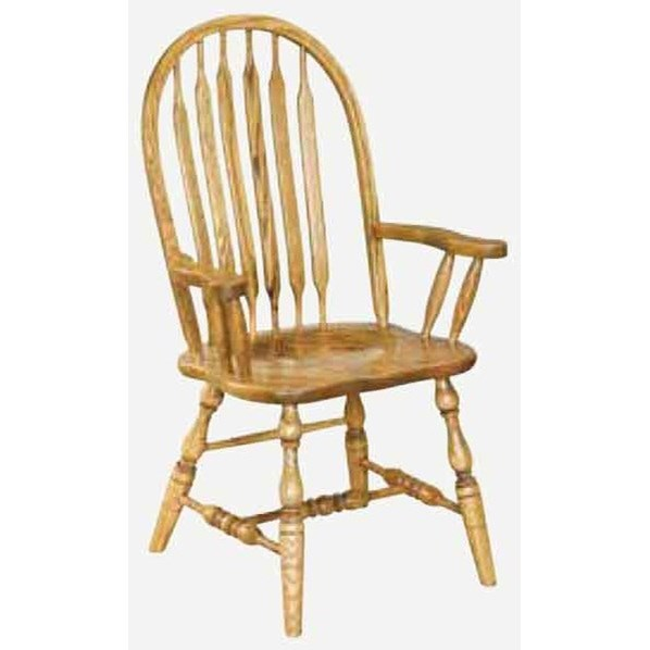 Angola Customizable Solid Wood Arm Chair at Williams & Kay