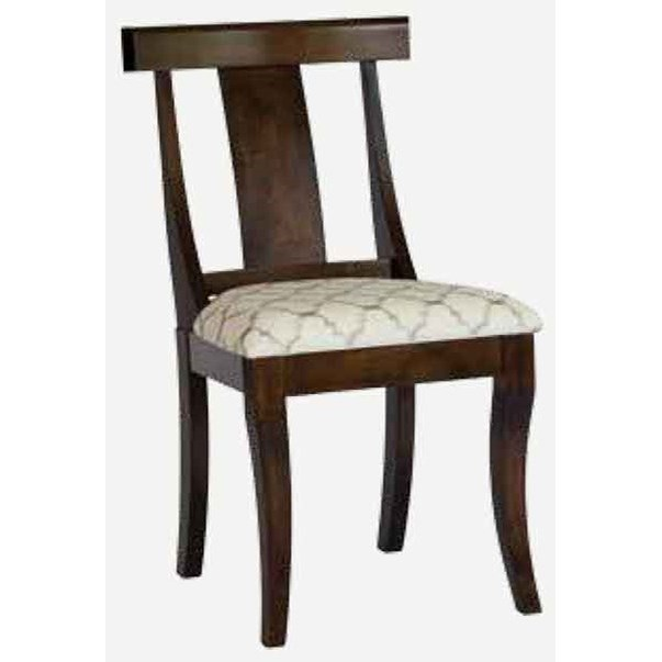 Arabella Customizable Side Chair - Leather Seat at Williams & Kay