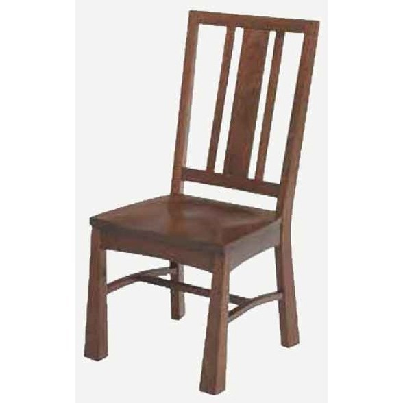 Arts and Crafts Side Chair - Wood Seat at Williams & Kay