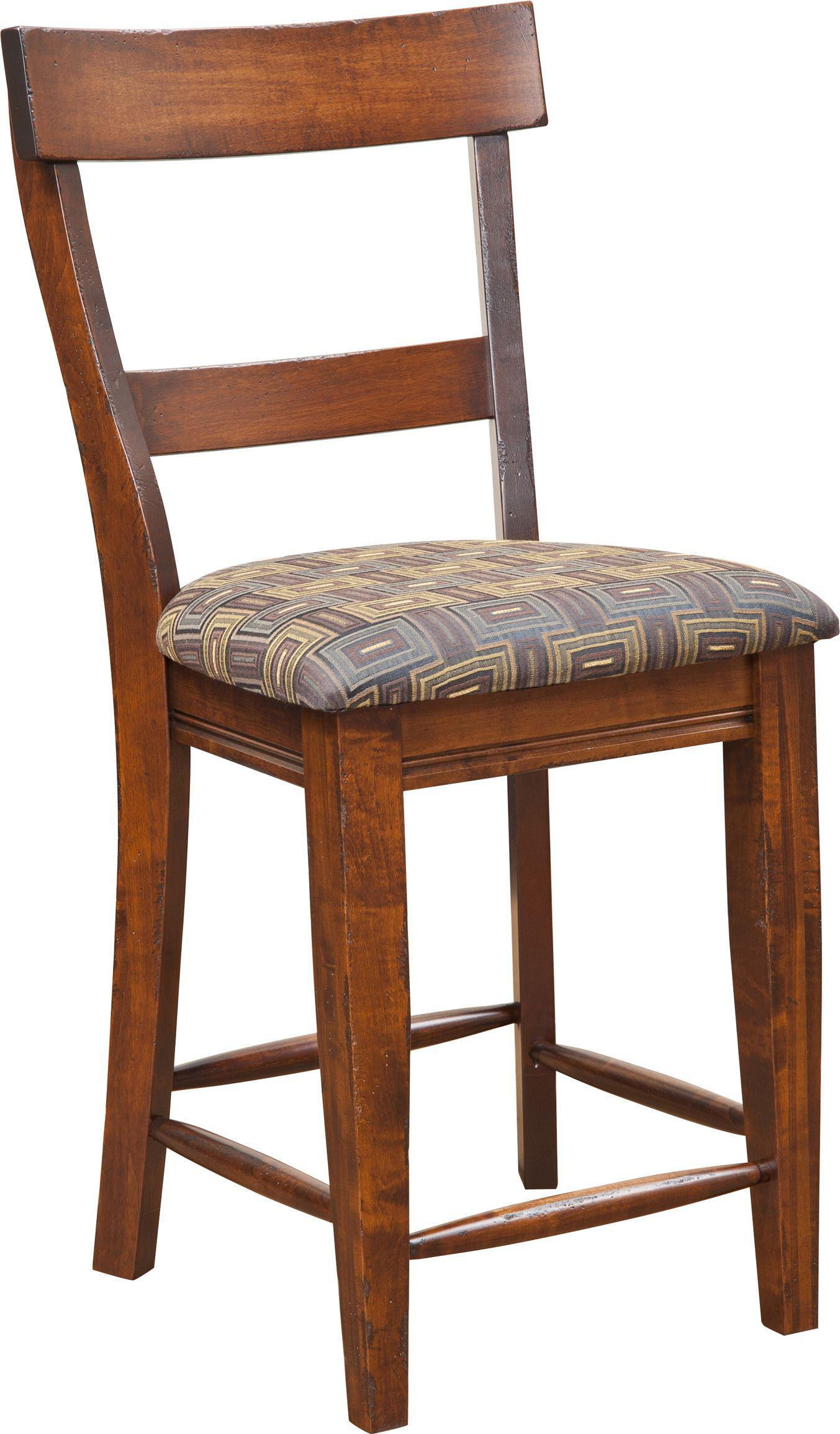 Bar Chairs Lewiston Bar Chair by Amish Impressions by Fusion Designs at Mueller Furniture