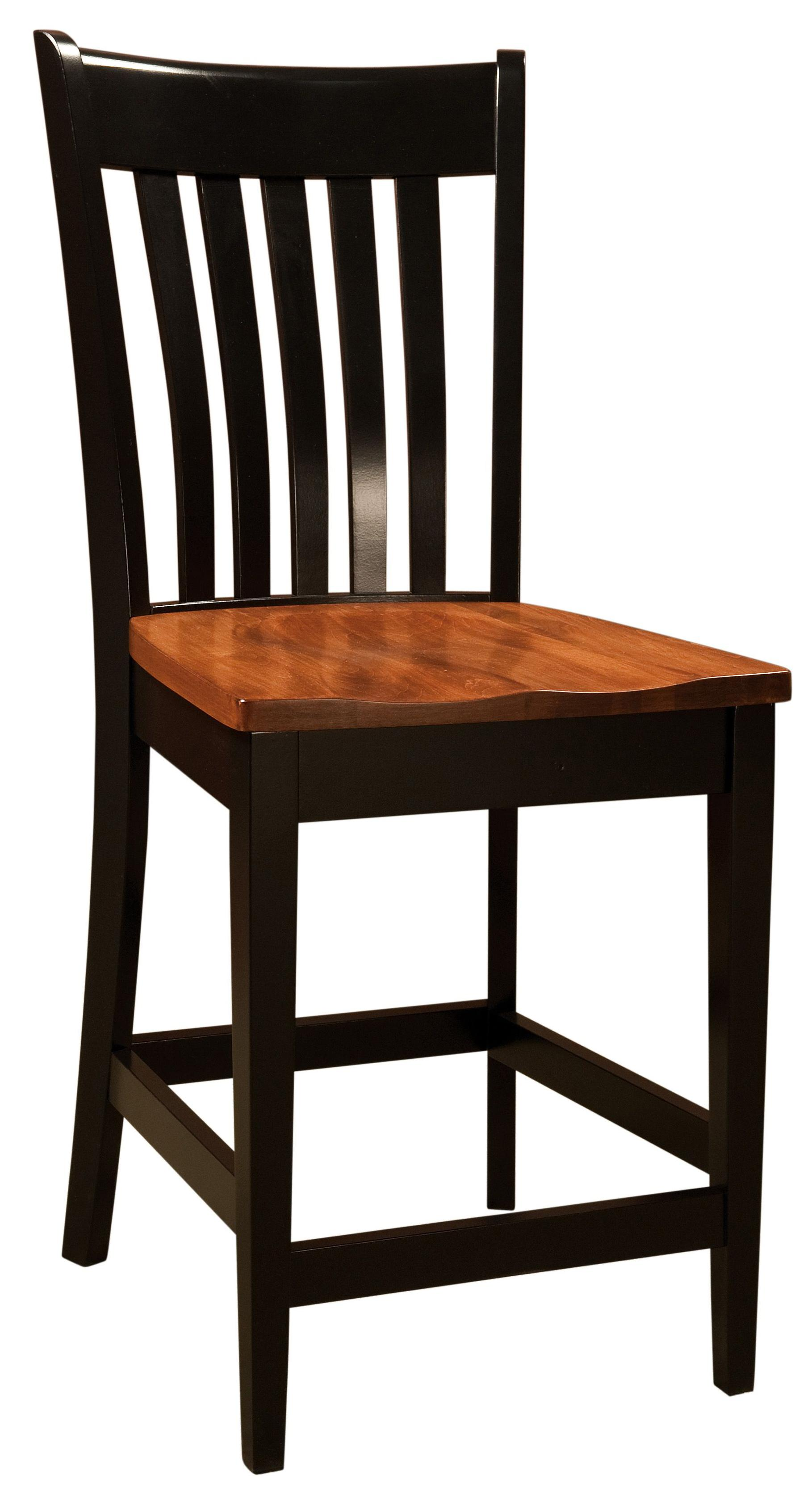 Bar Chairs Seabury Bar Chair by Amish Impressions by Fusion Designs at Mueller Furniture