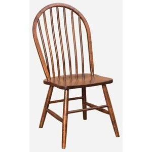 Customizable Solid Wood Side Chair - Wood Seat
