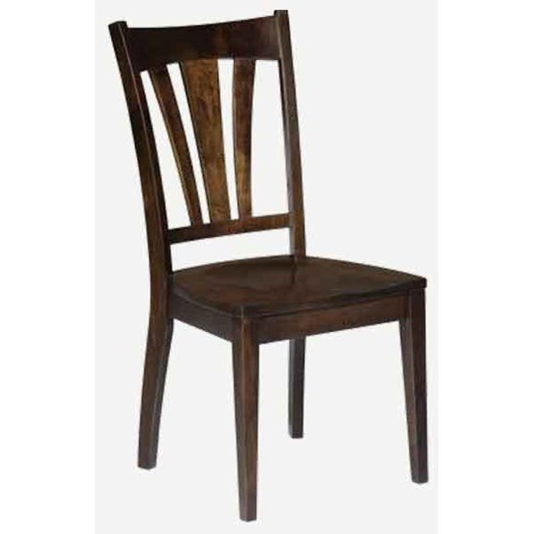 Bridgeport Customizable Solid Wood Side Chair - Fabric by Amish Impressions by Fusion Designs at Mueller Furniture