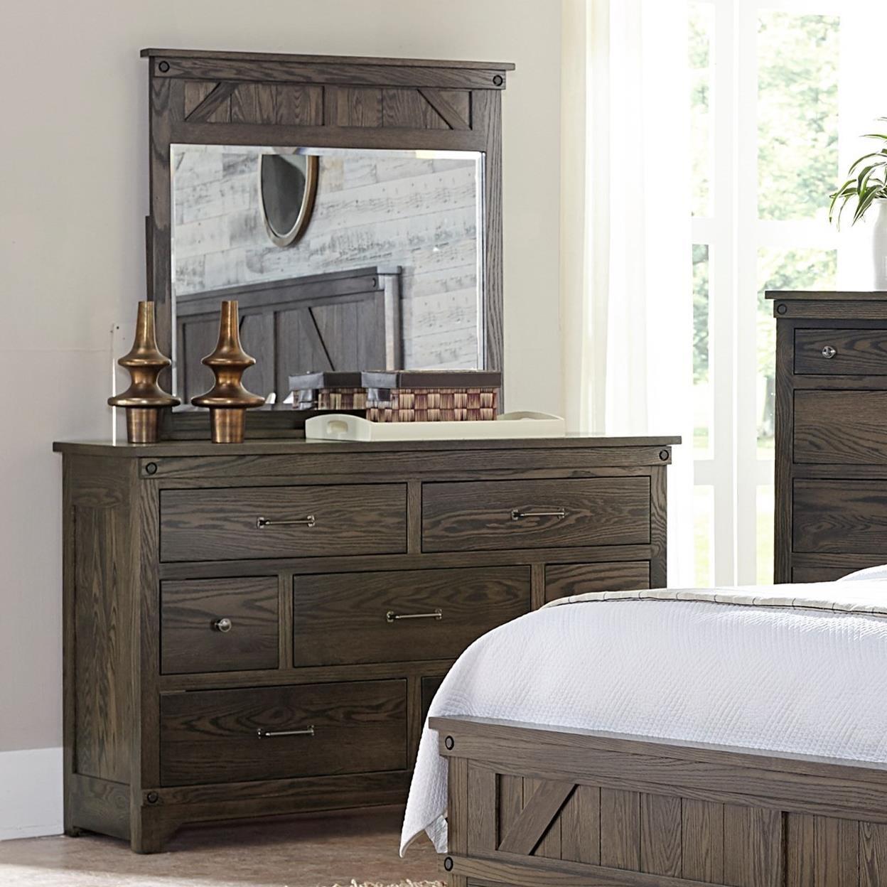 Cedar Lakes Dresser and Mirror Set at Williams & Kay