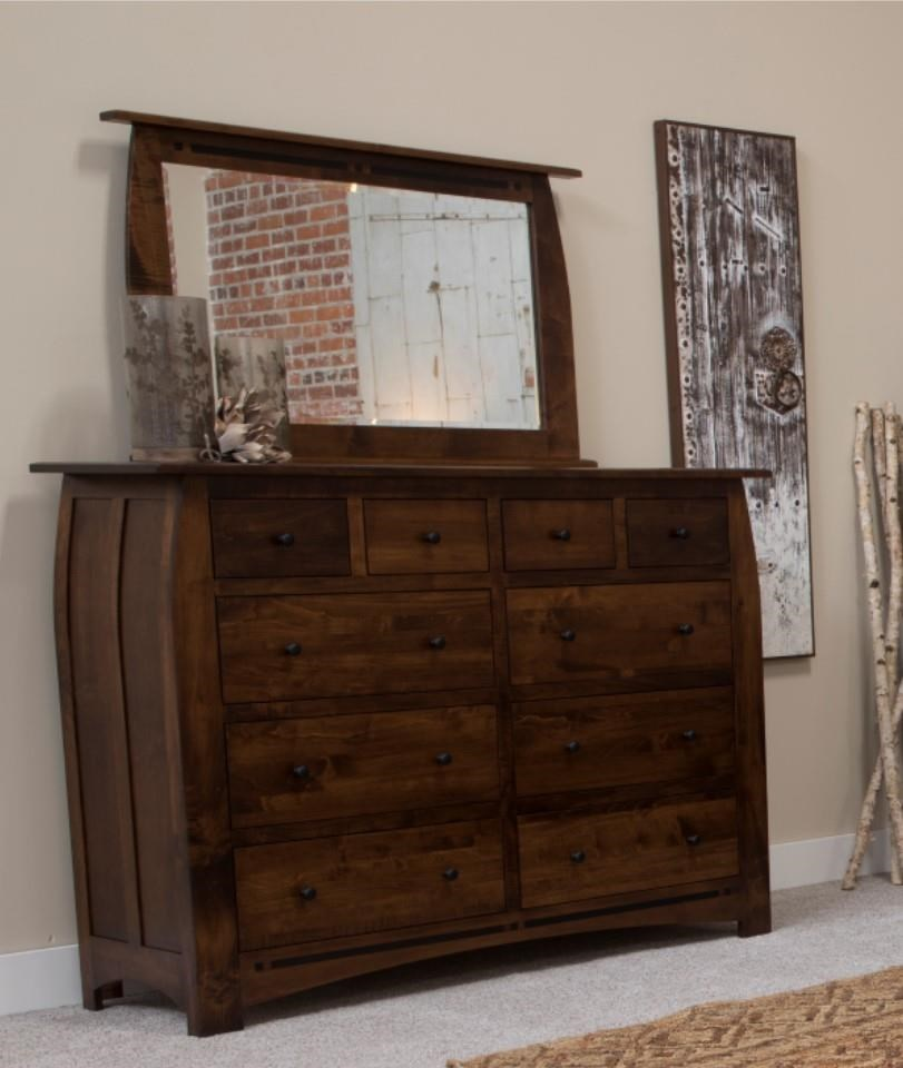 Clark Clark Amish Dresser & Mirror by Indiana Amish at Walker's Furniture