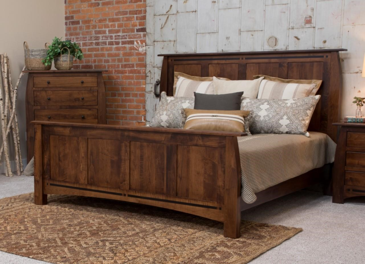 Clark Clark Amish Queen Panel Bed by Indiana Amish at Walker's Furniture