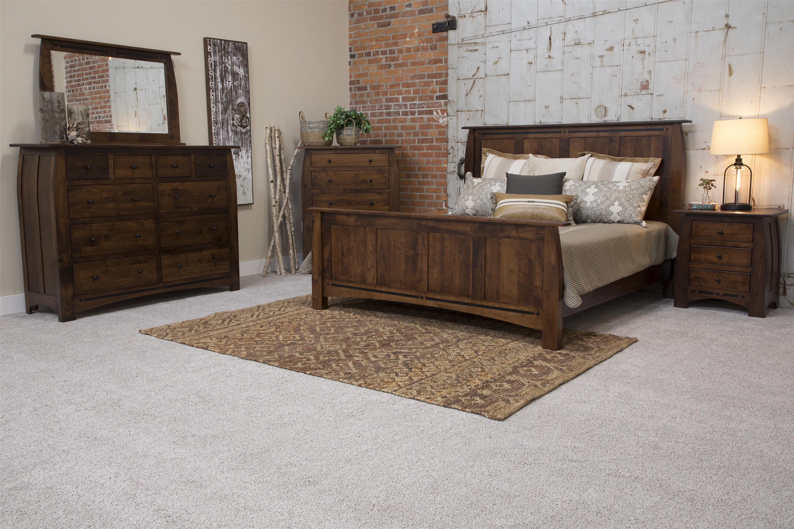 Clark 4 Piece Clark Amish Queen Bedroom Group by Indiana Amish at Walker's Furniture