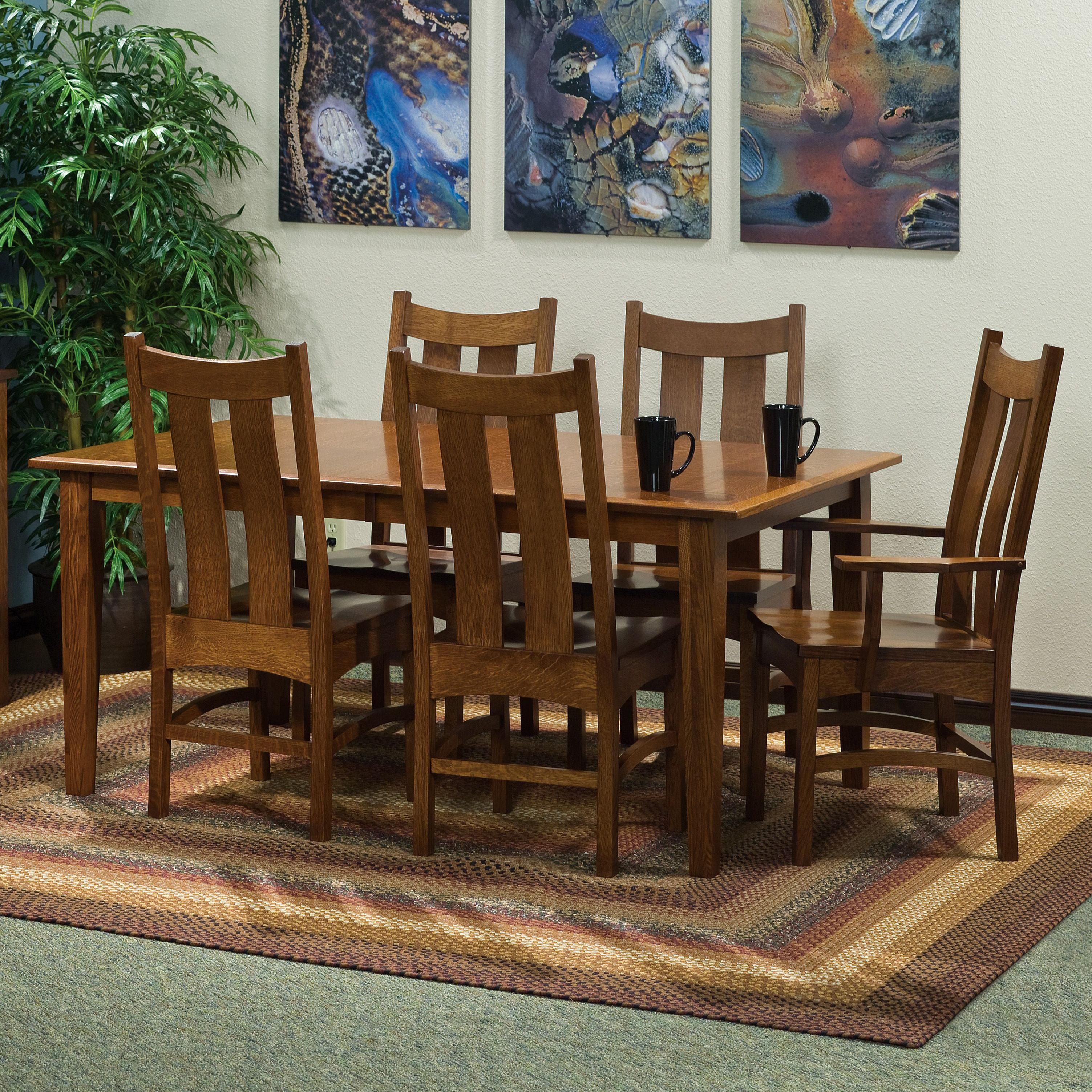 "Classic 7 pc. 42x72"" Table and Chairs Set by Amish Impressions by Fusion Designs at Mueller Furniture"