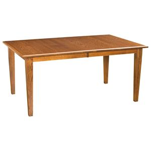 "42""x66"" Rectangular Leg Dining Table"