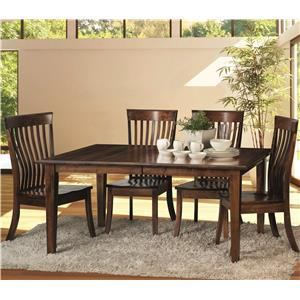 5 Piece Dining Set with Kennebec Slat Side Chairs