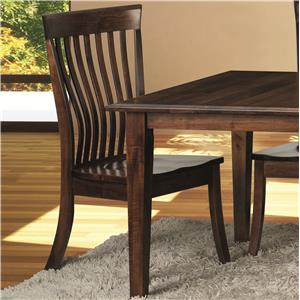 Kennebec Side Chair with Slat Back