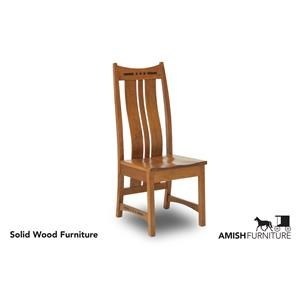 Dining Side Chair with Shaped Splat Back