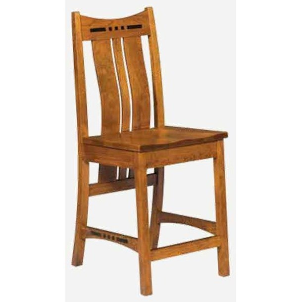 Hayworth Bar Chair by Amish Impressions by Fusion Designs at Wilson's Furniture