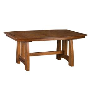 "Trestle Dining Table with 3 12"" Leaves"