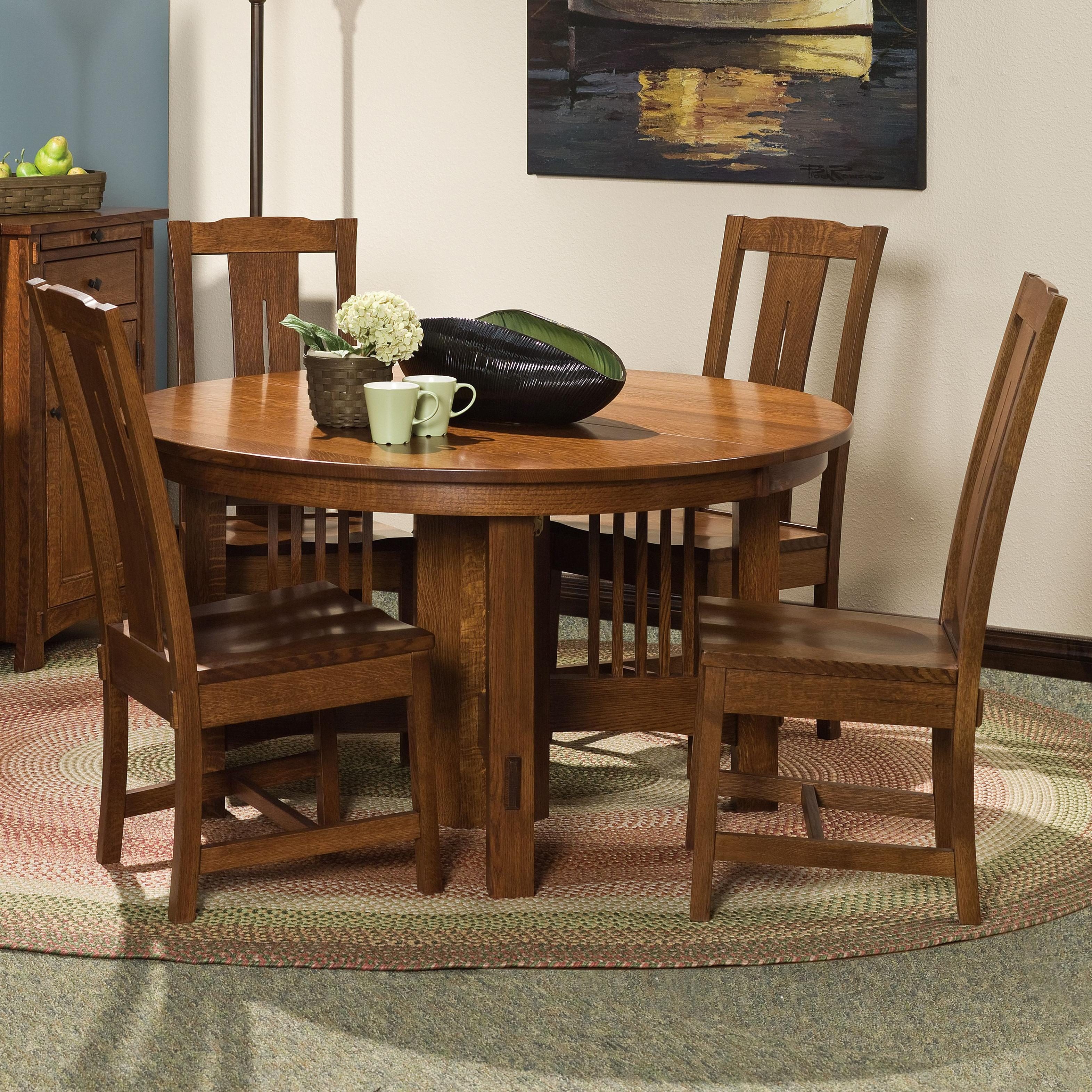 """Heartland 5 pc. 54"""" Table and Chairs Set by Amish Impressions by Fusion Designs at Mueller Furniture"""