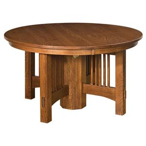 "54"" Round Expandable Dining Leg Table"
