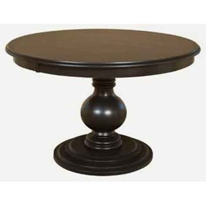 Customizable Round Single Pedestal Dining Table
