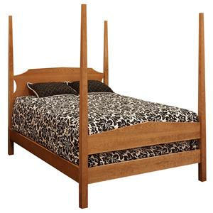 Twin Poster Bed with Tapered Posts