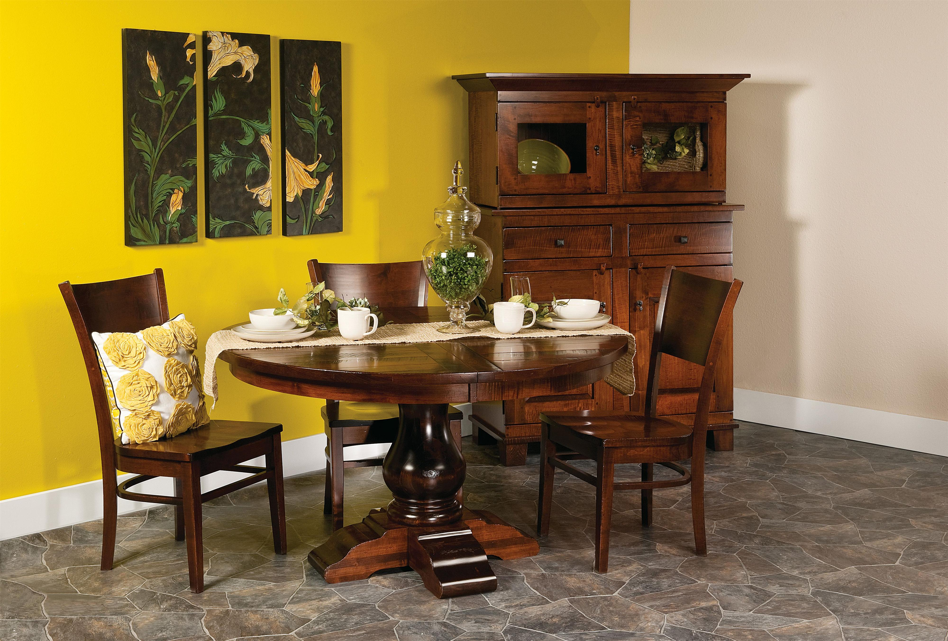 "Wellington 5 pc. 54"" Round Table and Chairs Set at Williams & Kay"