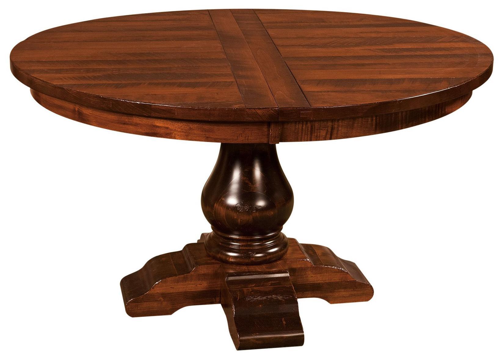 Webster Webster Amish Round Pedestal Table by Indiana Amish at Walker's Furniture