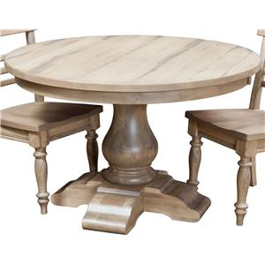 "60"" Round Dining Pedestal Table"