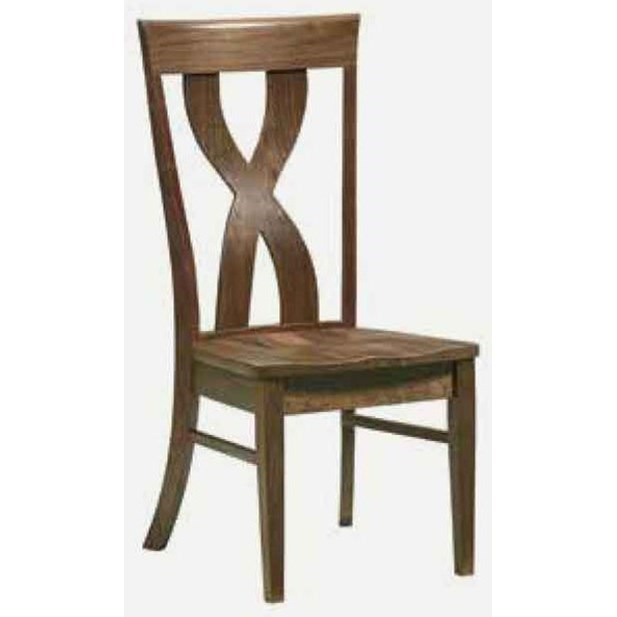 Xander Customizable Solid Wood Side Chair by Amish Impressions by Fusion Designs at Mueller Furniture