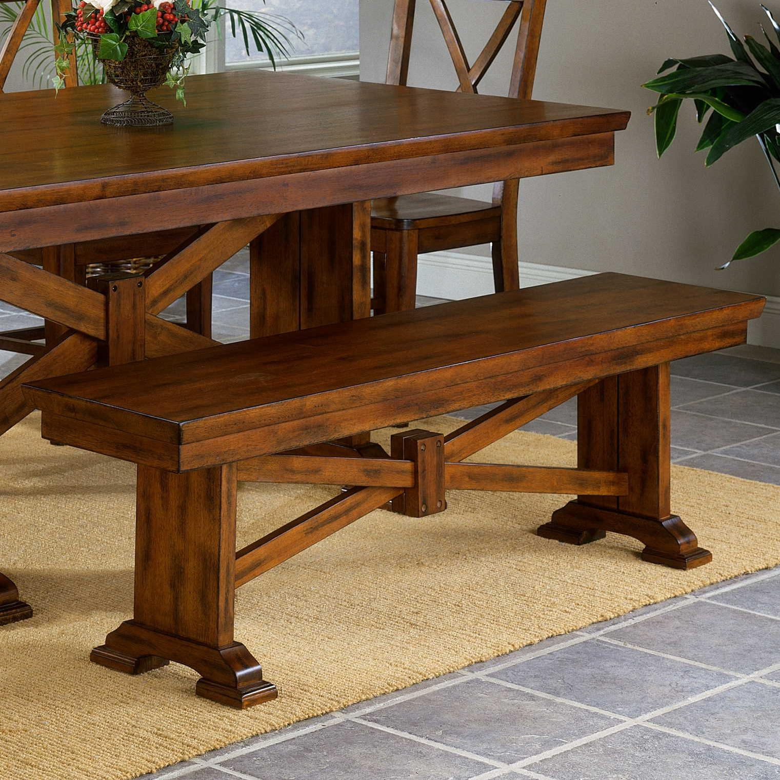Cornwall Trestle Bench at Sadler's Home Furnishings