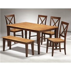 APA by Whalen Camden 6-Piece Table Set w/ Bench