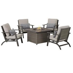 Firepit and 4 Motion Chairs