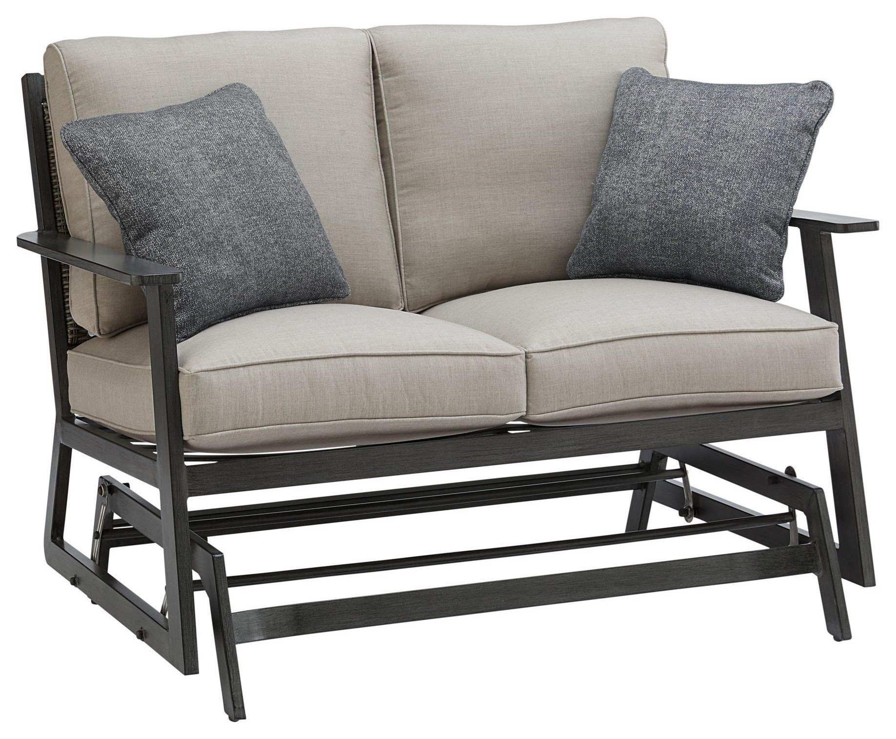 Adison LOVESEAT GLIDER With 2 Pillows by Apricity Outdoor at Johnny Janosik