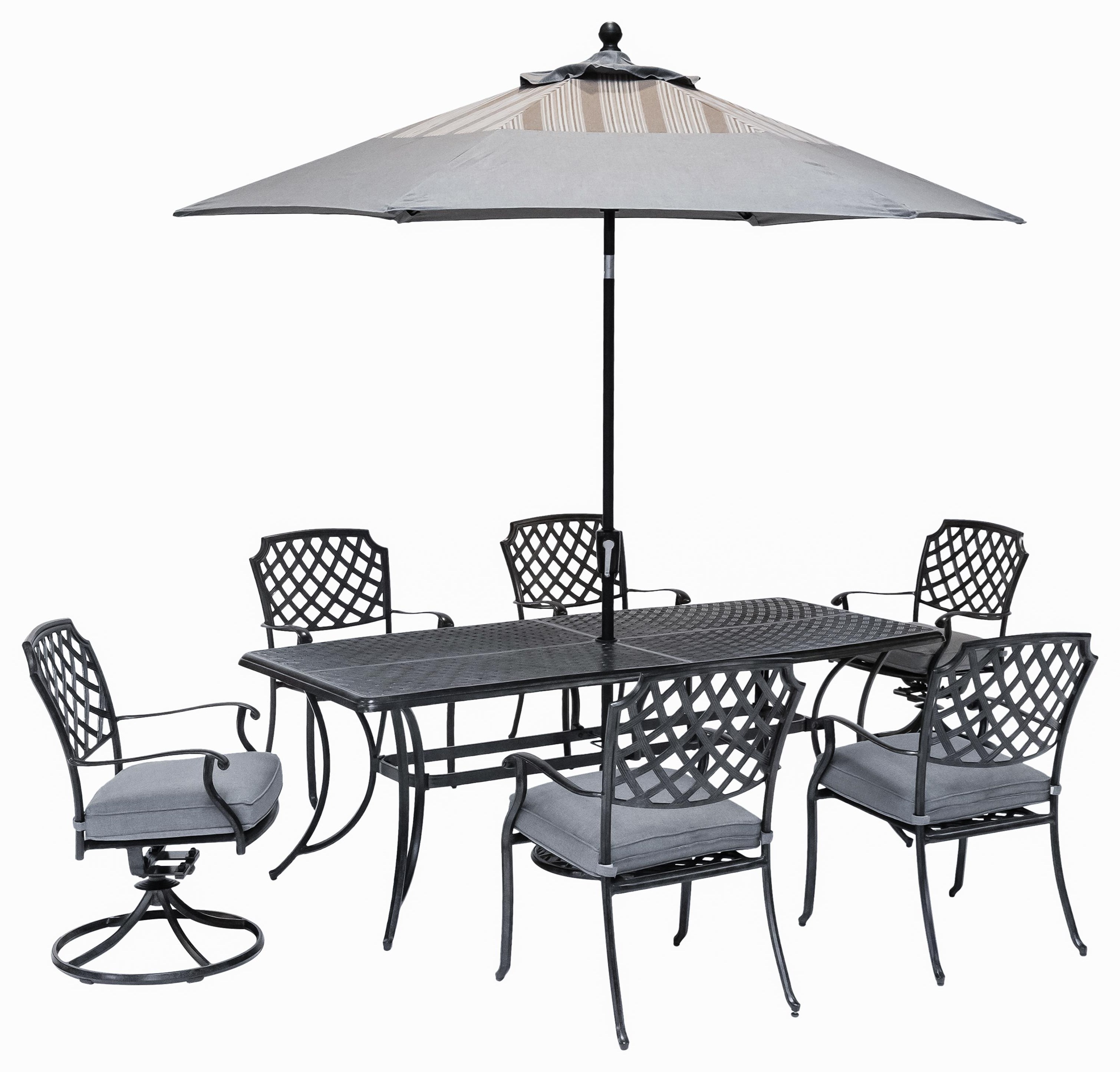 Madison TABLE, 4 DINING Chairs And 2 SWIVEL Chairs by Apricity Outdoor at Johnny Janosik