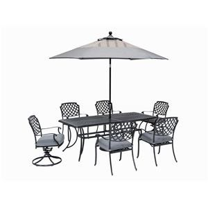 TABLE, 4 DINING Chairs And 2 SWIVEL Chairs
