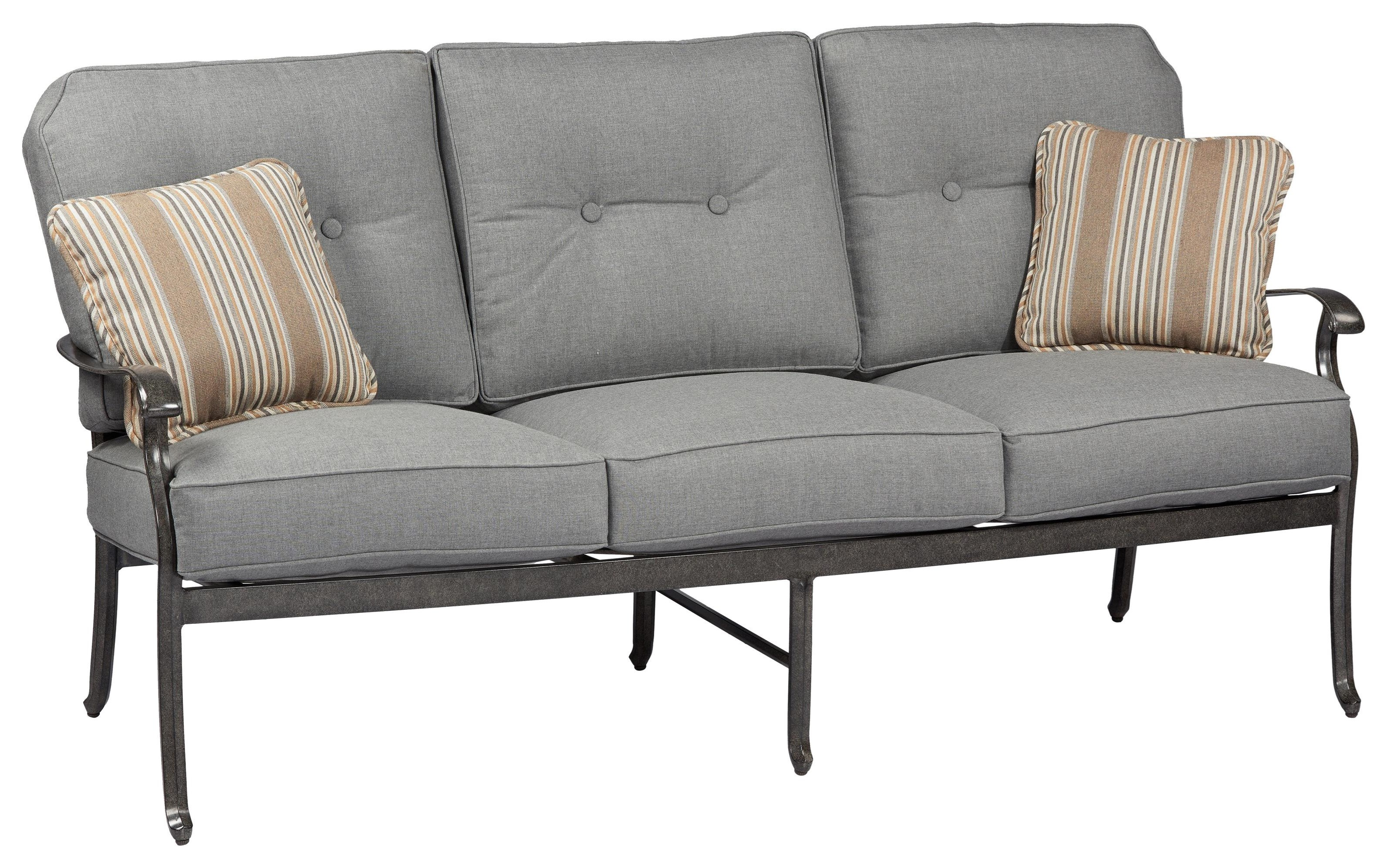 Madison Sofa with 2 Pillow by Apricity Outdoor at Johnny Janosik