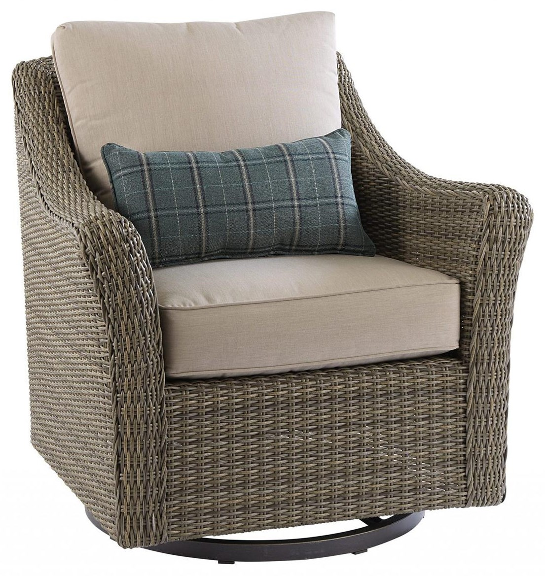 Oak Grove Swivel Glider by Apricity Outdoor at Johnny Janosik