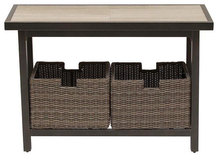 Oak Grove Sofa Table by Apricity Outdoor at Johnny Janosik