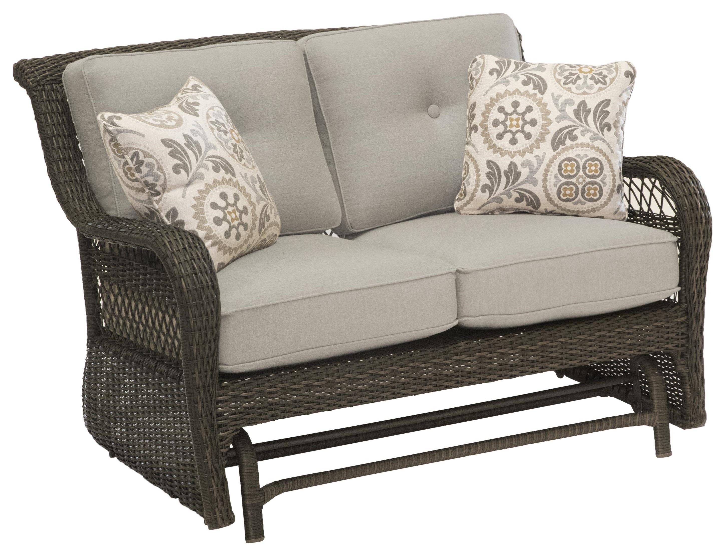 Riviera Loveseat Glider by Apricity Outdoor at Johnny Janosik
