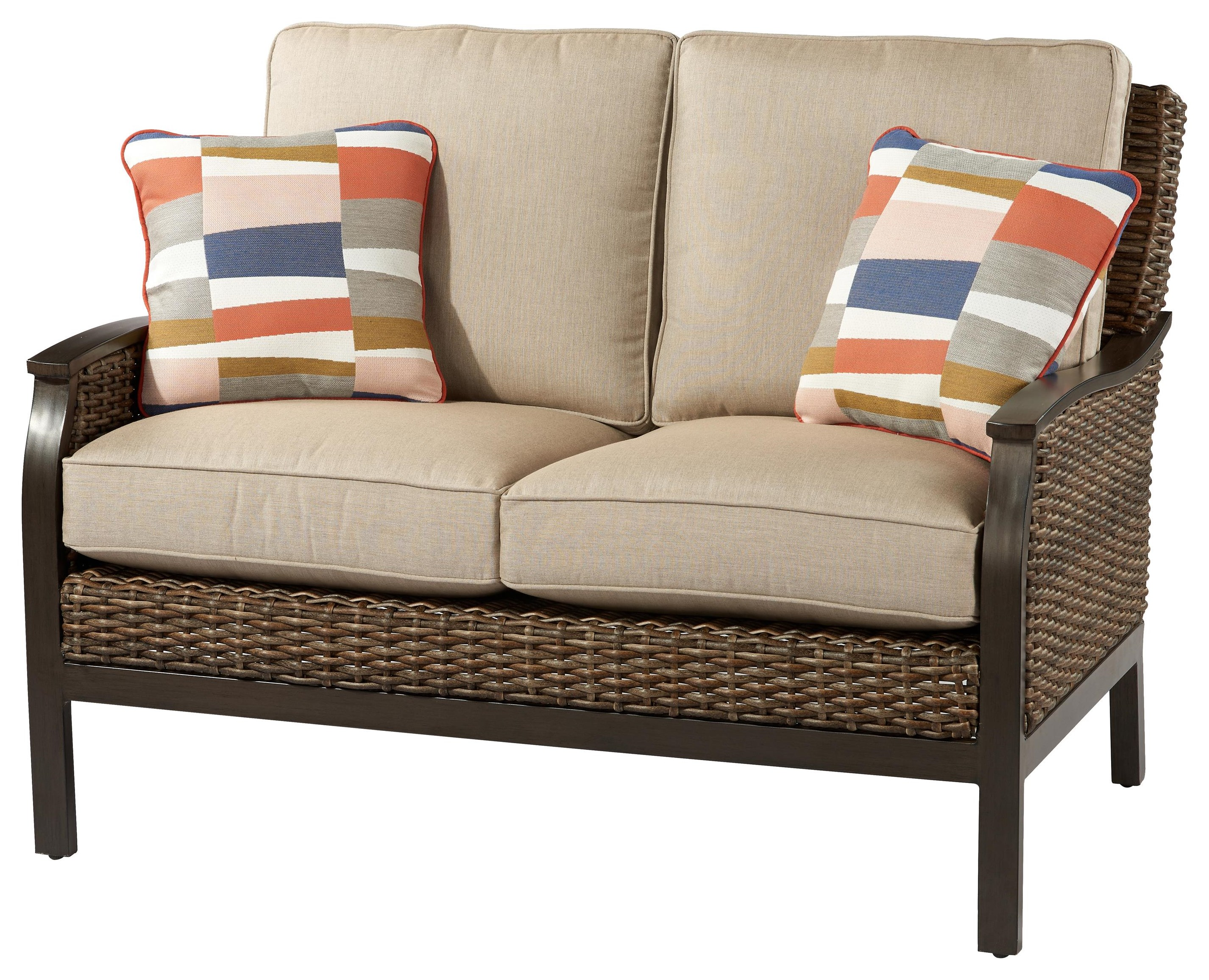 Trenton Loveseat with 2 Pillows by Apricity Outdoor at Johnny Janosik