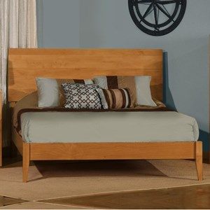 Customizable Solid Wood King Platform Bed